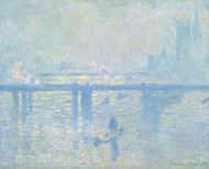 Charing Cross Bridge by Claude Monet Premium Giclee Print