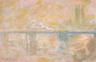 Charing-Cross Bridge in London by Claude Monet Premium Giclee Print