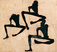 Composition with Three Male Nudes by Egon Schiele Premium Giclee Print