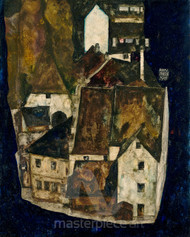 Dead City III (City on the Blue River III) by Egon Schiele Premium Giclee Print