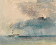 A Paddle Steamer in a Storm by Joseph Mallord William Turner Giclee