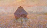 Haystack, Sun in the Mist by Claude Monet Premium Giclee Print