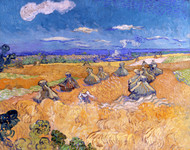 Wheat Fields with Reaper, Auvers by Vincent van Gogh Giclee
