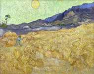 Wheatfield with a Reaper by Vincent van Gogh Giclee