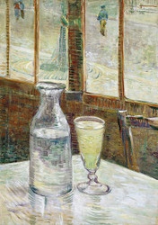 Cafe Table with Absinthe by Vincent van Gogh Premium Giclee