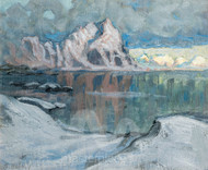 Boats between the Mountains by Anna Boberg Premium Giclee