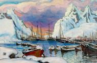 Winter Harbor by Anna Boberg Premium Giclee Print
