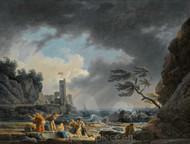 Maritime Art - A Stormy Coastal Scene by Claude-Joseph Vernet