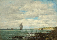 Maritime Art - Coast of Brittany by Eugène Boudin