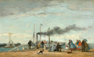 Maritime Art - Jetty and Wharf at Trouville by Eugène Boudin