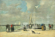 Maritime Art - On the Jetty by Eugène Boudin