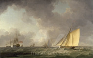 Maritime Art - Cutter Close Hauled in a Fresh Breeze by Charles Brooking