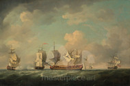 Maritime Art - The Capture of the Marquis d'anton and the Louis Erasme