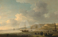 Maritime Art - The Coast near Scheveningen, Fishing Pinks on the Shore