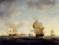 Maritime Art - Shipping in the English Channel by Charles Brooking