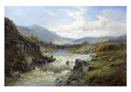 Falls of the Tay by Alfred de Bréanski Landscape Premium Giclee Print
