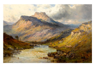 A Trout Stream Near Stirling by Alfred de Bréanski Landscape