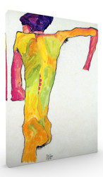 Male Nude Propping Himself Up by Egon Schiele Wall Art