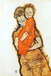 Mother and Child by Egon Schiele Art Print