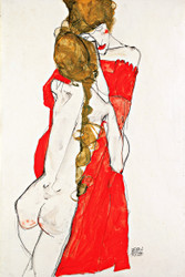 Mother and Daughter by Egon Schiele Art Print