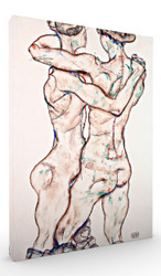 Naked Girls Embracing by Egon Schiele Wall Art