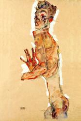 Self Portrait with Splayed Fingers by Egon Schiele Art Print