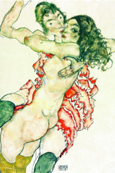 Two Women Embracing by Egon Schiele Art Print
