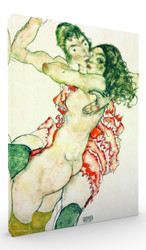 Two Women Embracing by Egon Schiele Wall Art
