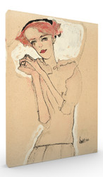 Portrait of a Woman by Egon Schiele Wall Art