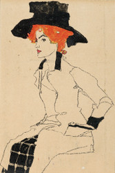 Portrait of a Woman II by Egon Schiele Art Print