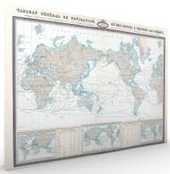 Tableau General de Navigation ou des Routes a Travers les Oceans Stretched Canvas