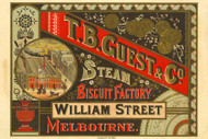 T.B. Guest & Co. Steam Biscuit Factory Vintage Advertising