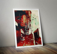 Wall Art Framed, Abstract Cityscape II