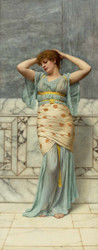 Beauty in a Marble Room by John William Godward Premium Giclee