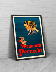 Vermouth Perucchi 1920s Advertising Poster Framed