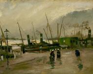 Vincent van Gogh Print The De Ruijterkade in Amsterdam