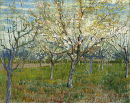Vincent van Gogh Print The Pink Orchard also Orchard with Blooming Apricot Trees