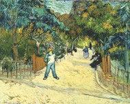 Vincent van Gogh Print Entrance to the Public Gardens in Arle