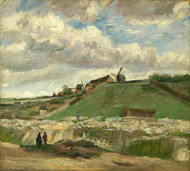 Vincent van Gogh Print The Hill of Montmartre with Stone Quarry