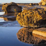 Seascape Print Rock Reflection by Jeff Grant