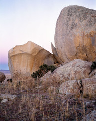 Rocks Vertical by Jeff Grant Landscape Print