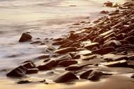 Seascape Print Long Reef Rocks Flat 2 by Jeff Grant