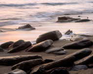 Brisket Pt Rocks by Jeff Grant Seascape Print
