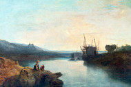 William Turner Print Harlech Castle From Twgwyn Ferry Summers Evening Twilight