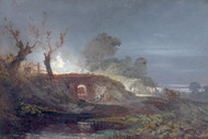 William Turner Print Limekiln at Coalbrookdale