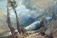 William Turner Print Mer de Glace in The Valley of Chamouni Switzerland