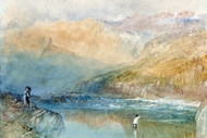 William Turner Print On the Mosell Near Traben Trarbach