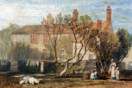 William Turner Print Steeton Manor House Near Farnley