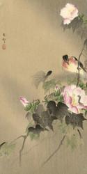 Bird and Caterpillar by Ohara Koson Japanese Woodblock