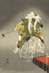 Japanese Print Actors in the Noh Theater Eboshiori by Tsukioka Kogyo 1926 2b Art